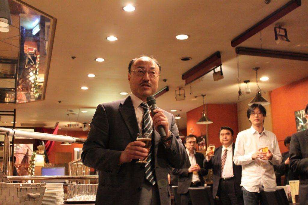 航空自衛隊松島基地時藤司令による懇親会乾杯。