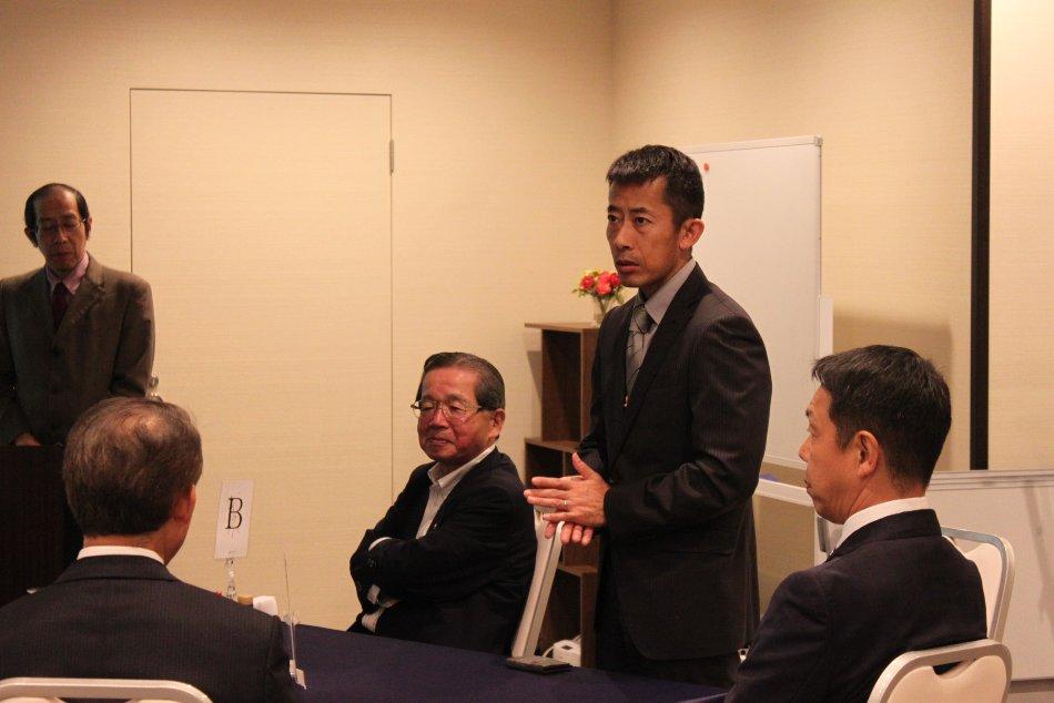 航空自衛隊松島基地第四航空団副司令阿蘇晋一にご出席賜りました。ありがとうございました。