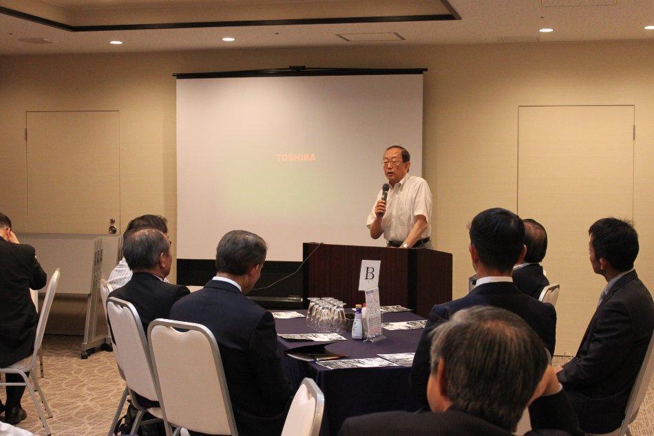 東北放送前報道制作局長佐藤敏悦様よりのご講話。