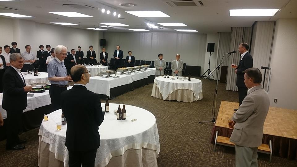 空自松島基地時藤司令に乾杯のご挨拶を頂戴いたしました。時藤様有難うございました。