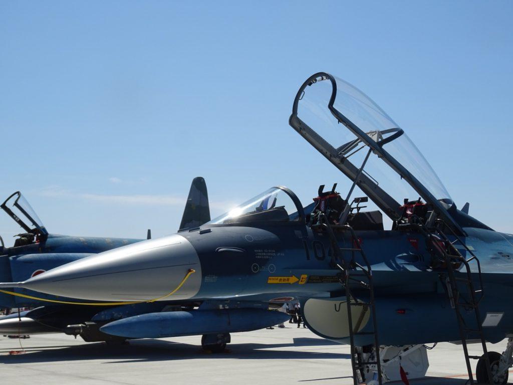 7年ぶりの航空祭での一般公開展示となるF2戦闘機。