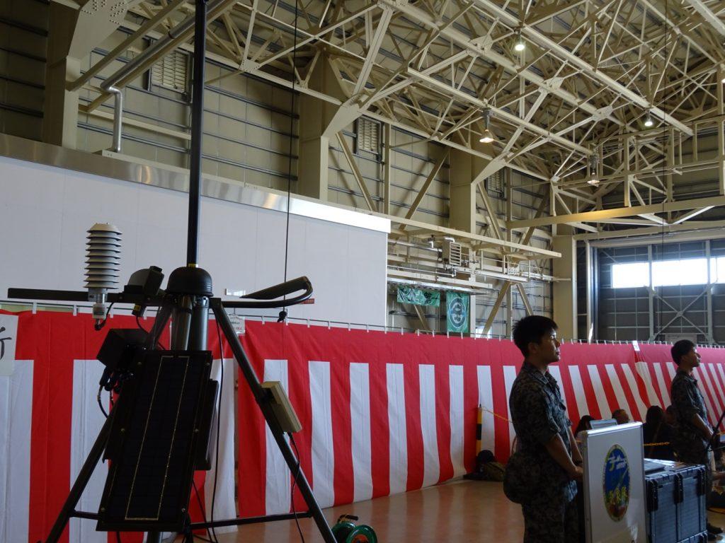 気象隊による観測機展示。