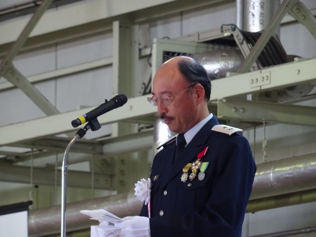 開会に先立ち松島基地司令時藤和夫氏は震災後7年の歳月を経ての航空祭の開催に、関係者地元自治体、そして被災により殉職した隊員、遺族に感謝の気持ちを述べた。