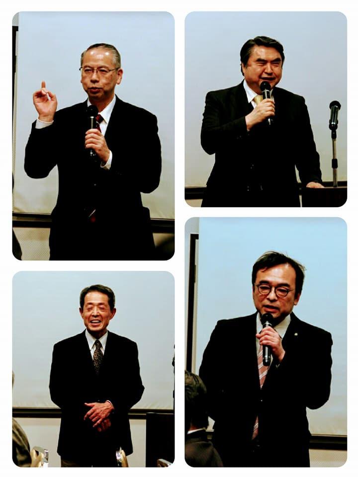 仙台市議会・鎌田城行先生からは市議会のご報告を、多くの皆様からご挨拶を頂きました。