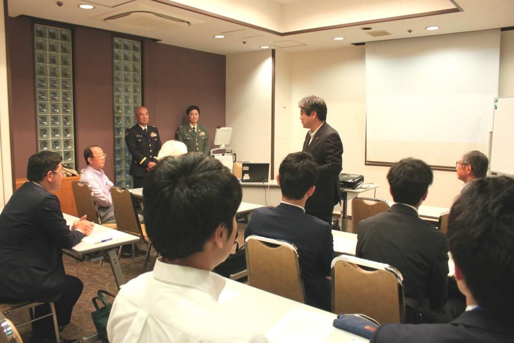 当日は復興副大臣・土井亨先生にご挨拶を賜りました。