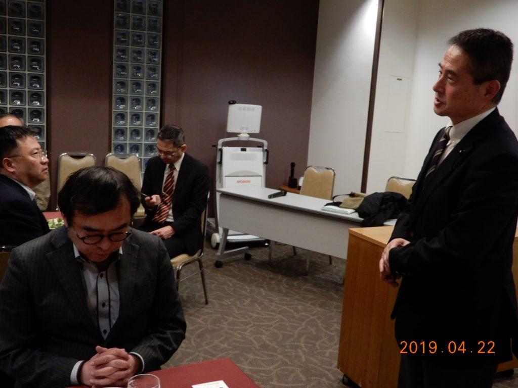 宮城県議会・K先生よりご挨拶を賜りました。