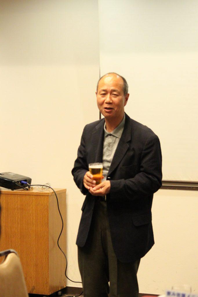 松島基地司令・M様より乾杯のご挨拶を賜りました。