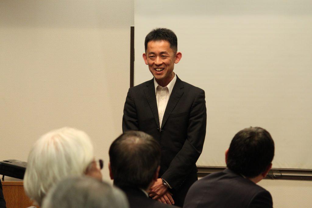 次月ご講話いただく松島基地・中川整備補給群司令様にもご挨拶いただきました。来月は20日開催です。